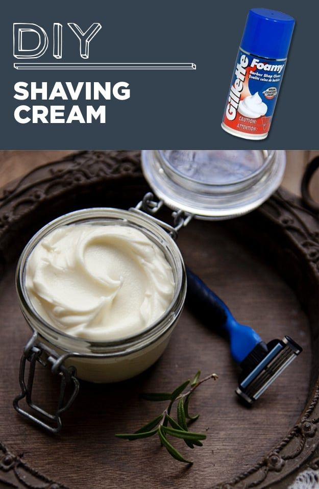 Shea butter, coconut oil, jojoba oil, rosemary oil, and peppermint oil are the ingredients you'll need to make this natural shaving cream. Get the full directions here.