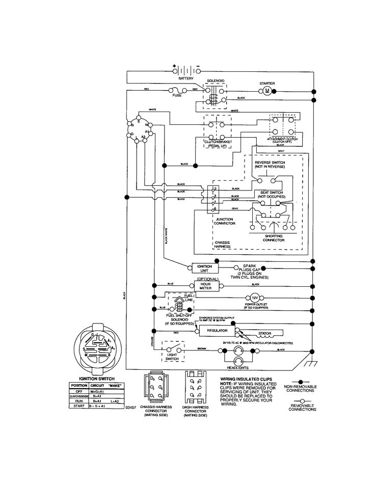 wiring diagram for craftsman riding lawn mower wiring engine