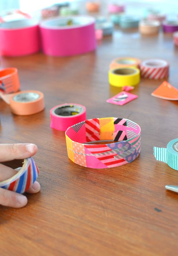 made by kids with duct tape + washi tape