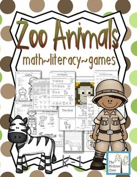 Zoo Animal Activity Pack!Math~Literacy~Games~PuzzlesUse this fun set during your animal or Zoo unit! This is not intended to teach about zoo animals, but to bring in some math and literacy concepts to your animal or zoo unit!PLEASE CLICK PREVIEW FOR MORE DETAILS OF ACTIVITIES!MATH2 pattern practice pages 1 measuring practice page (2 options: 1 page uses a ruler with inches, the 2nd uses a ruler with an object.)3 estimation jar pages PLUS demonstration page and student worksheet.