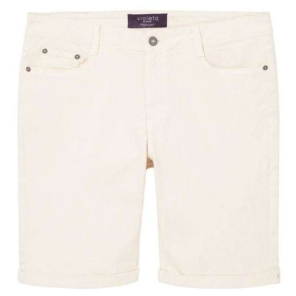 Cotton Bermuda Shorts (2.590 RUB) ❤ liked on Polyvore featuring shorts, zipper shorts, cotton shorts, mango shorts, bermuda shorts and cotton bermuda shorts