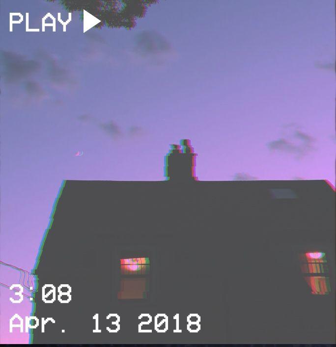M O O N V E I N S 1 0 1 #vhs #aesthetic #house #sky #sunset #purple #glitch #pink