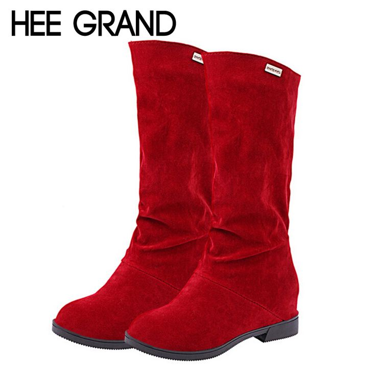 Find More Women's Boots Information about 2015 New Suede Women Boots Sexy Height Increasing Mid Calf Boots Autumn Riding Boots Slip On Flats Casual Shoes Woman XWX2696,High Quality shoes school,China shoes for women flat Suppliers, Cheap shoe liner from Fancy Women's Heels on Aliexpress.com