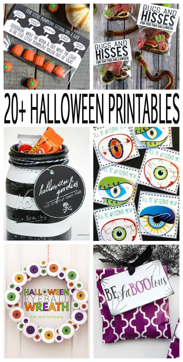 Over 20 Awesome Halloween Printables!