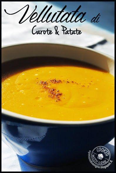 Vellutata di Carote e Patate - Ricetta Bimby http://opinionidivaniglia.blogspot.it/2015/02/ricetta-bimby-vellutata-di-carote-e.html