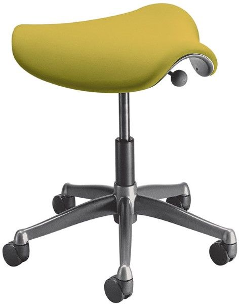 The Humanscale Liberty Pony and Saddle are brilliant standing alone or as a compliment to your Liberty Chair seated.com.au #seated #liberty #stool #saddle