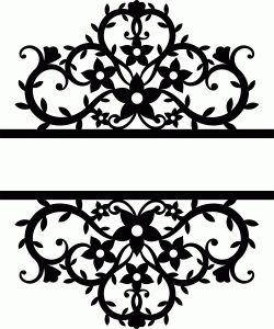 Silhouette Design Store: split flourishes damask