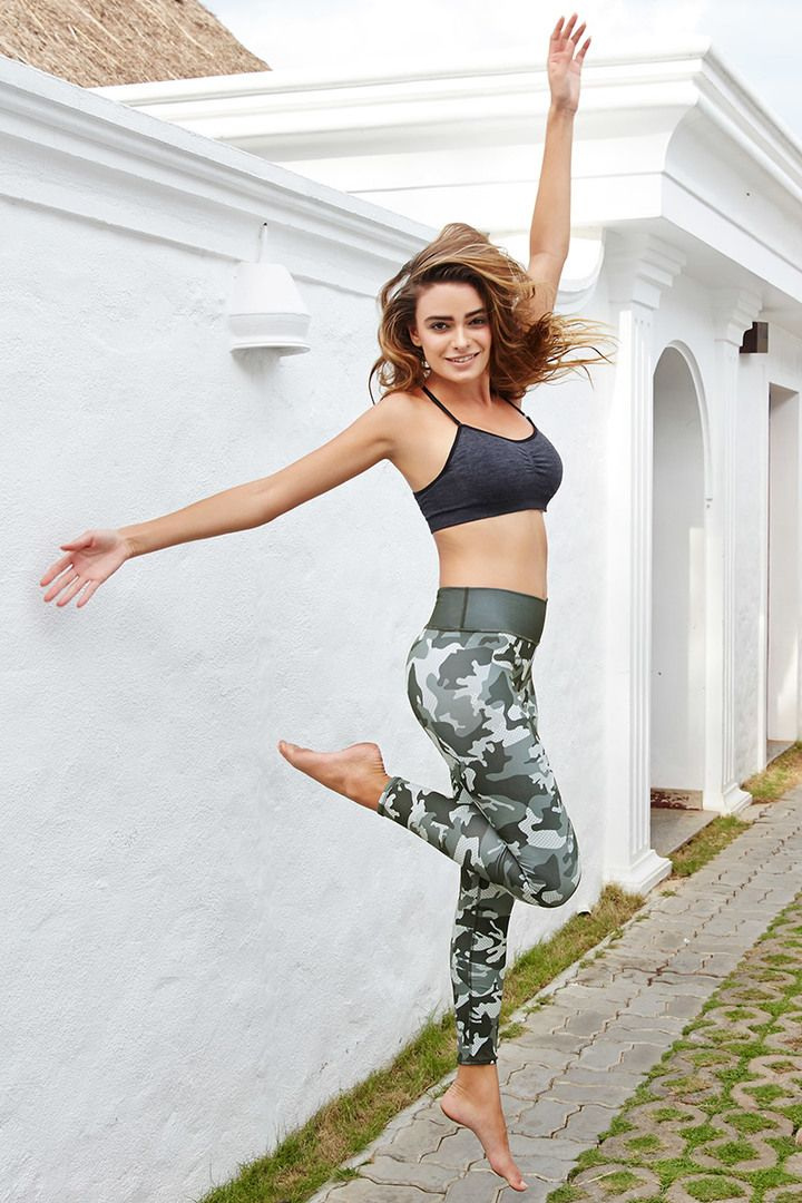 Zelocity AlphaTone Mid Waist Core Grey Camouflaged Leggings #camouflaged #printed #gym_wear #active_wear