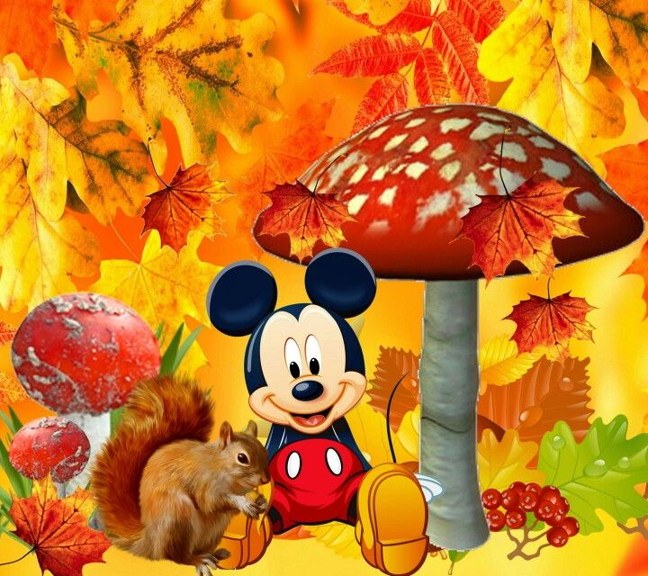 Otoño Mickey | Disney | Pinterest