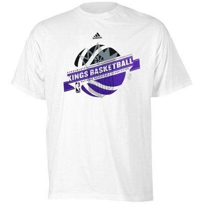 adidas Sacramento Kings Banner Basketball T-Shirt - White