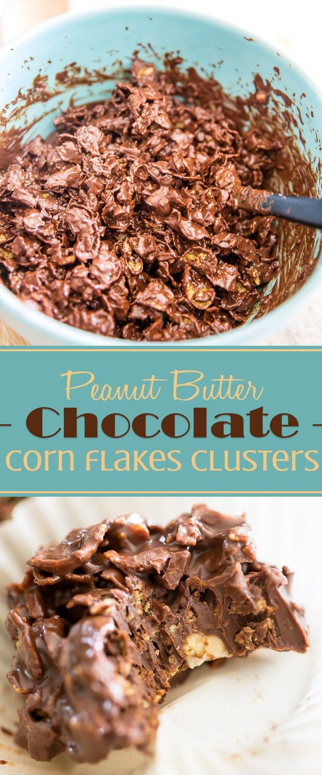 Peanut Butter Chocolate Corn Flakes Clusters • My Evil Twin's Kitchen