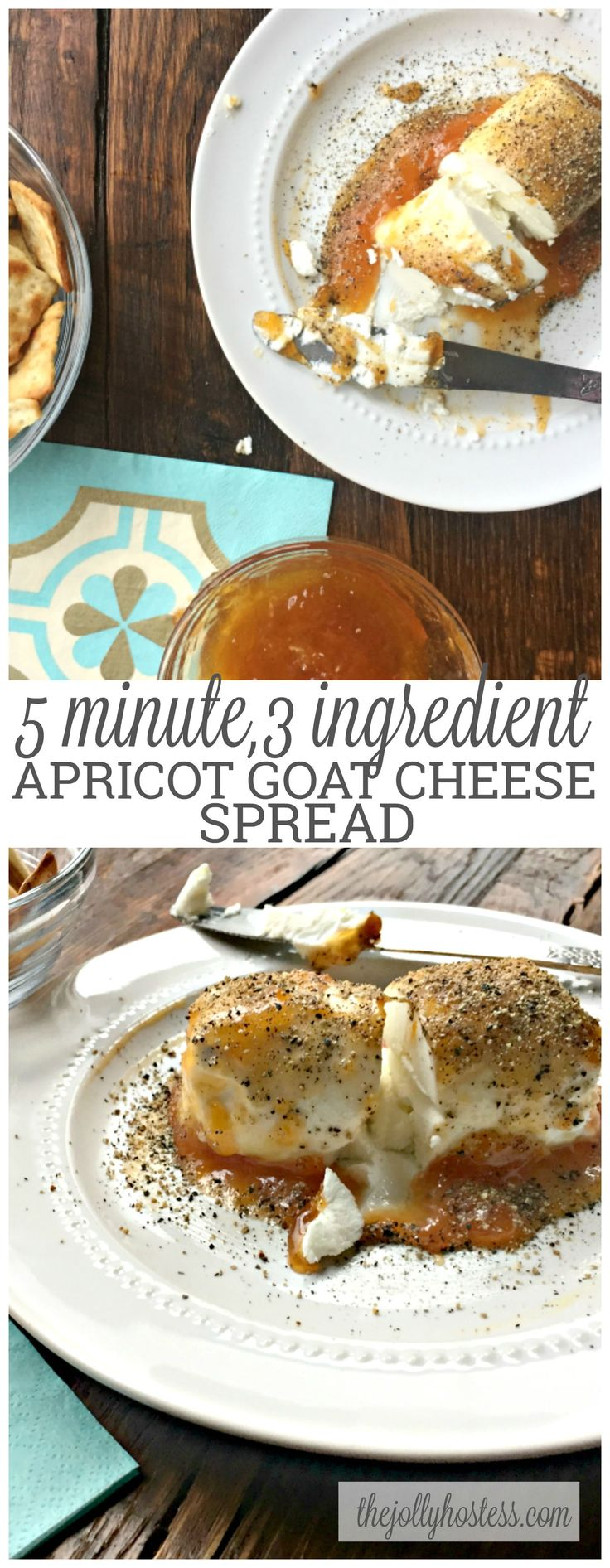 Goat cheese apricot spread | recipes | recipe | appetizers | apps | party food | parties | for a crowd | finger food | snacks | | chip and dip | low ingredient | easy | the easiest | quick | simple | make ahead | cheese boards | charcuterie | cheese | fruit |