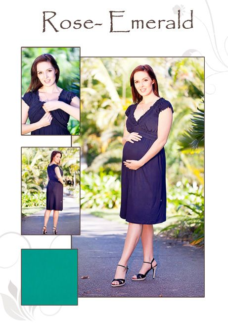NEW Rose Emerald Maternity Nursing Dress   See more at  http://www.goosebumpsclothing.com/