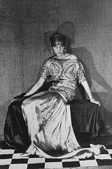 """this is Poiret's wife,she was wearing dress by her husband in 1923. Poiret was said: """"My wife is the inspiration for all my creations, she is the expression of all my ideals"""""""