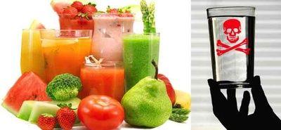 Oczyszczające soki z warzyw eliminują trucizny