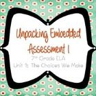 springboard 7th grade ela unpacking embedded assessment 1.1