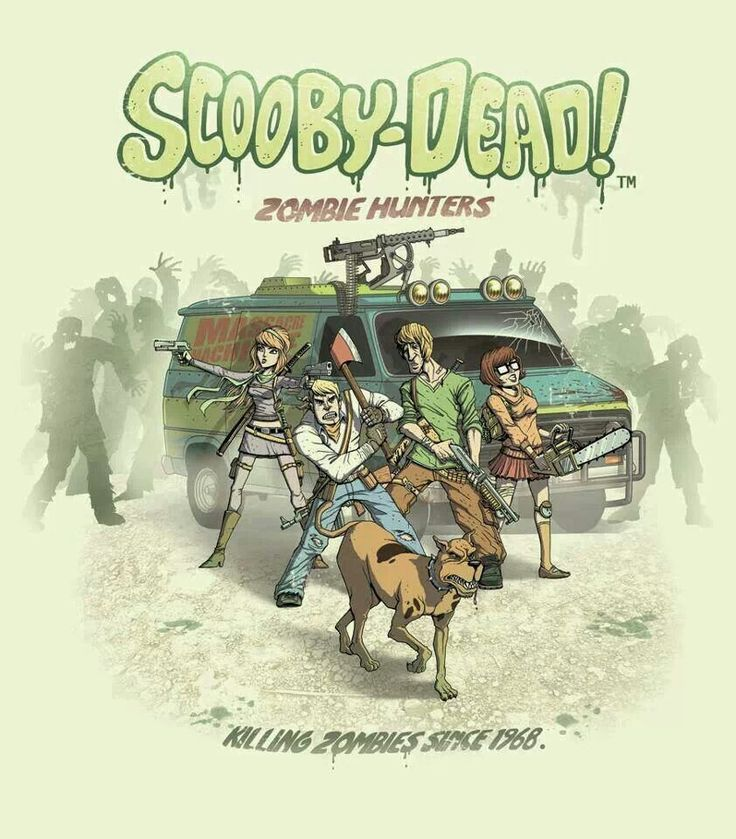 Scooby Doo Meets The Walking Dead ~ I would so watch this.