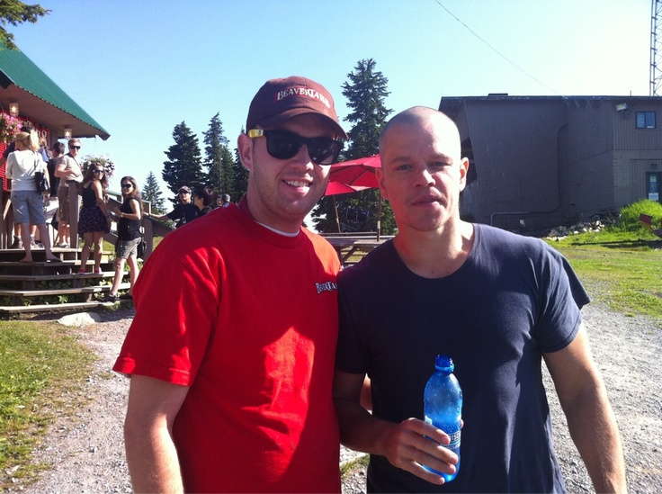 Matt Damon at our Grouse Mt. store.
