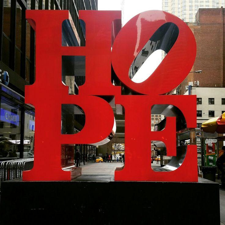Always  . . #hope #madeinnyc #aroundnyc #NYC #newyorkcity #lovingnyc #ilovenyc #iheartnyc #agirlcandream #walkinginnyc #lookup #wearegeeks #dreamer #stop #sculpture #sundaywalk #sunday #sundayfunday