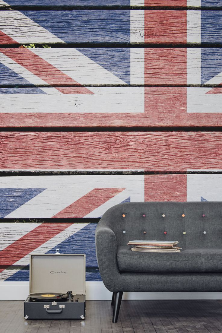 Wood Effect Union Jack Wall Mural