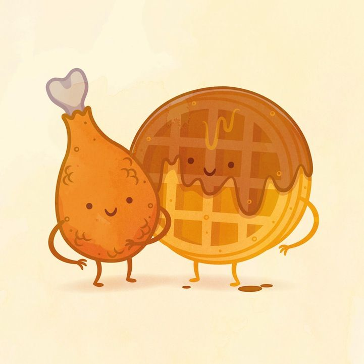 Whimsical Illustrations of Delicious Food Pairings As Best Friends - My Modern Met