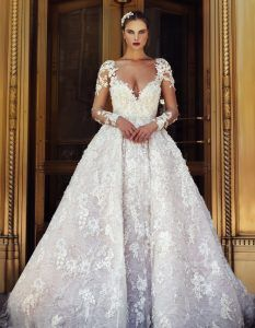 View our modern couture Stephen Yearick Wedding Dress and Bridal Gown Collection available at our New York Bridal Salons.