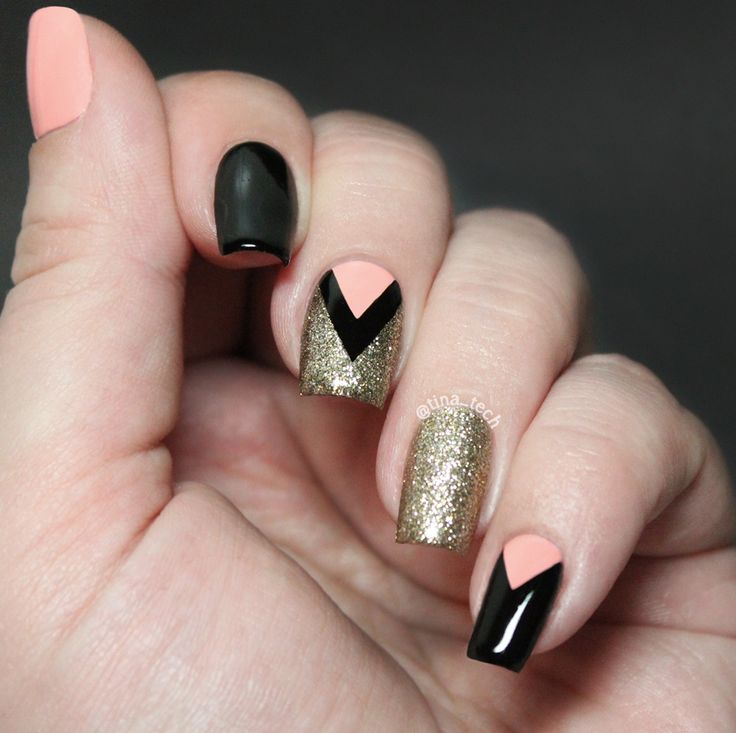 chevron nailart