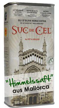 Olivenöl Suc de Cel, Olivenöl extra virgen, D.O.