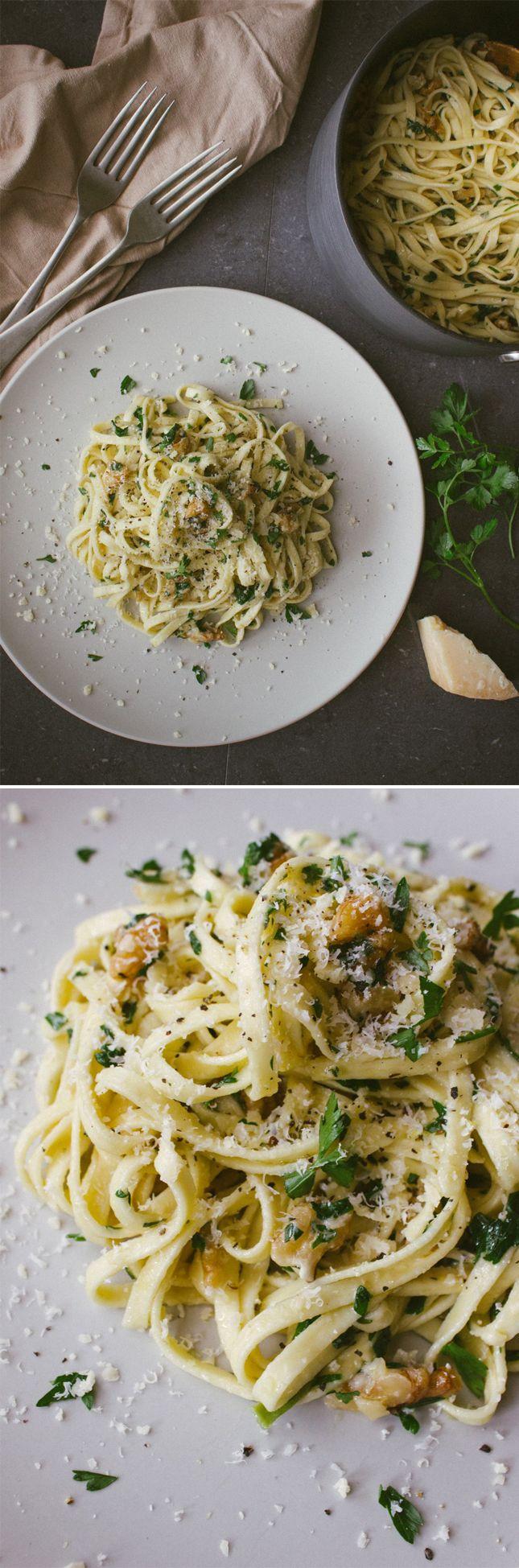 Walnut, Parsley, and Parmesan Linguine | mmmmhmmm | Pinterest