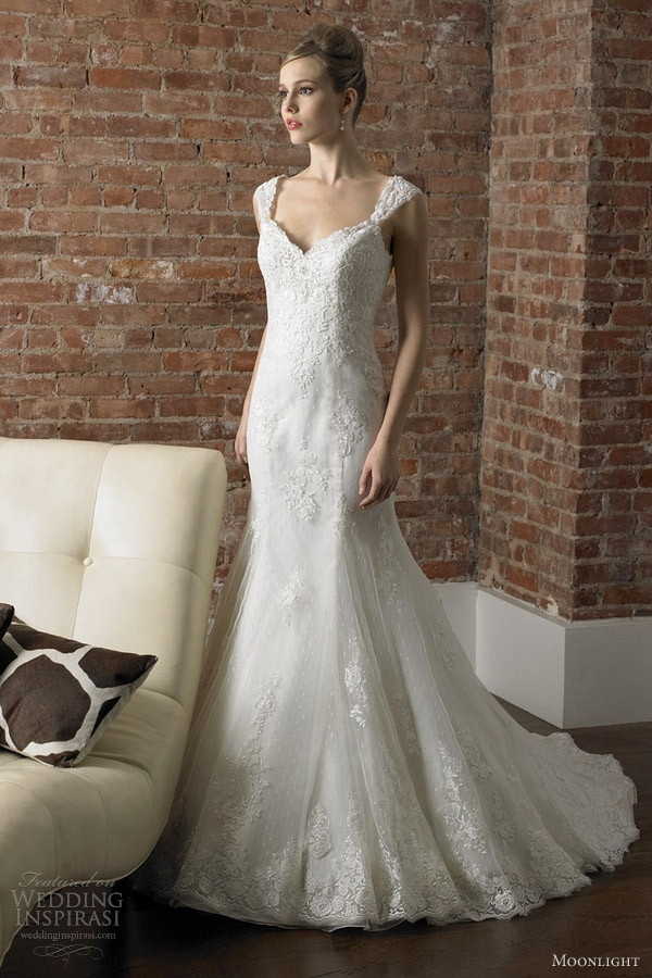 Moonlight Couture Wedding Dresses Fall 2012: Backless Dress from the Front