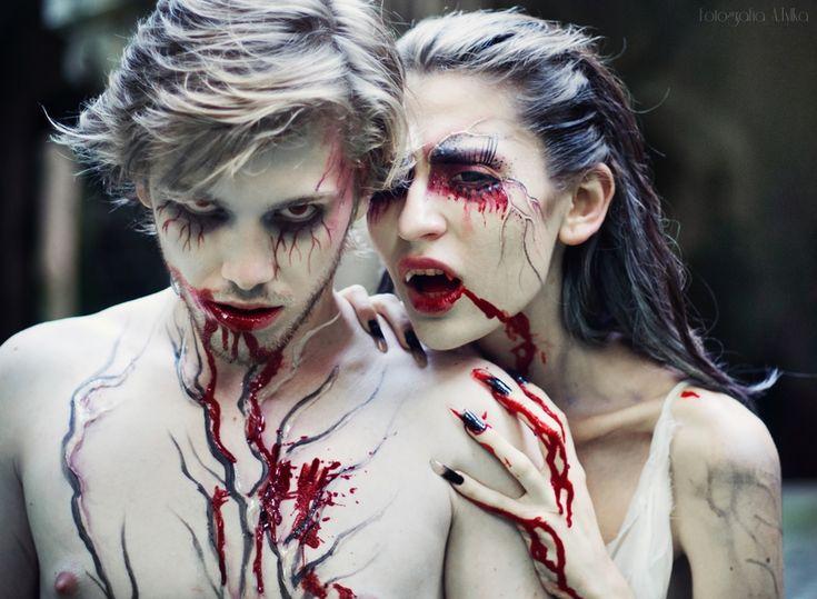 maquillage vampire couple