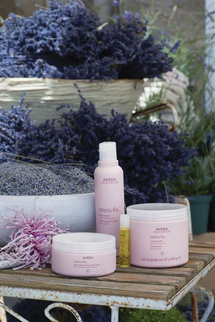 Let Stress-Fix's aroma of clary sage and organic lavender soothe your worries and calm your soul. Experience it in Body Creme, Soaking Salts, Concentrate or Body Lotion.