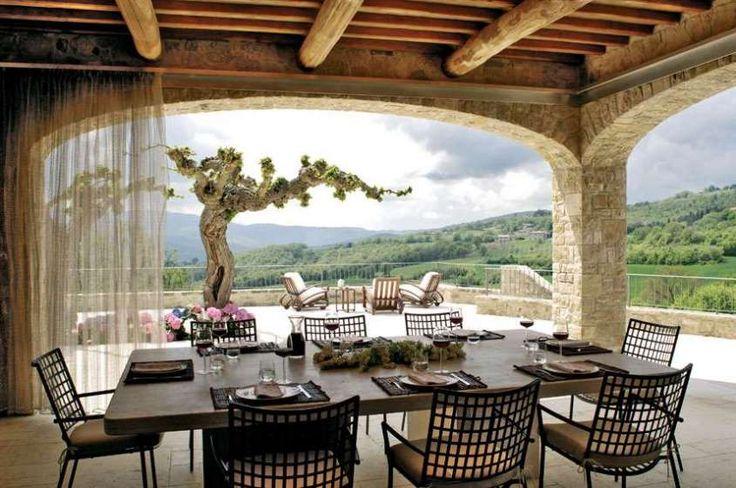 Arredare la casa in campagna in stile chic moderno - Terrazzo in stile campagna chic