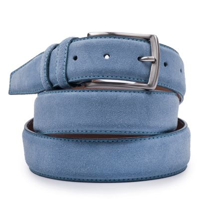 Suede riem: Provence Blue by ColorMeSocks™