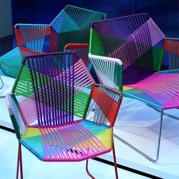 M s de 17 ideas fant sticas sobre silla tejida en - Muebles de mimbre para jardin ...