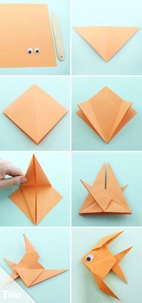 Easy Origami Fish Tutorial Paper Craft Pinterest Origami Fish