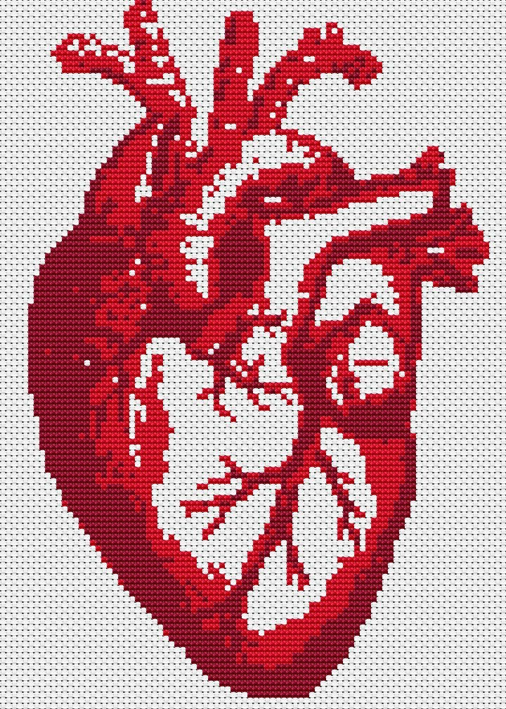 Heart cross stitch pattern - bing images.