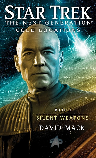 Simon and Schuster's listing for Silent Weapons, the second book in David Mack's new TNG trilogy, Cold Equations.