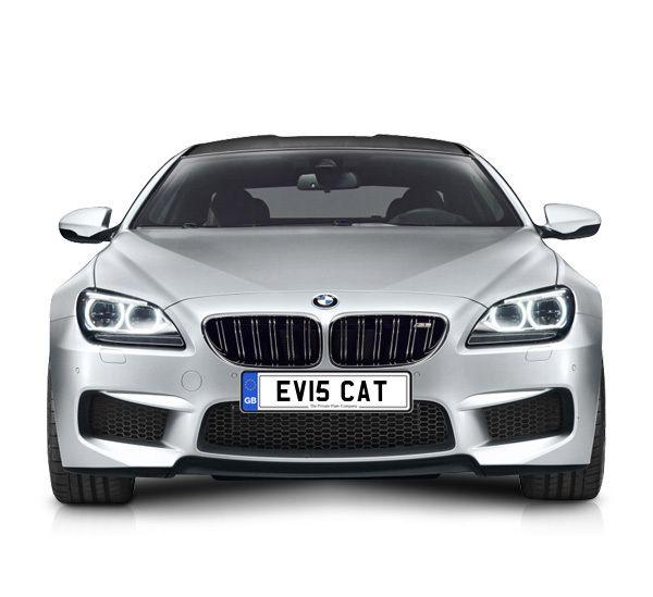 UK Private Plate registration number EV15 CAT