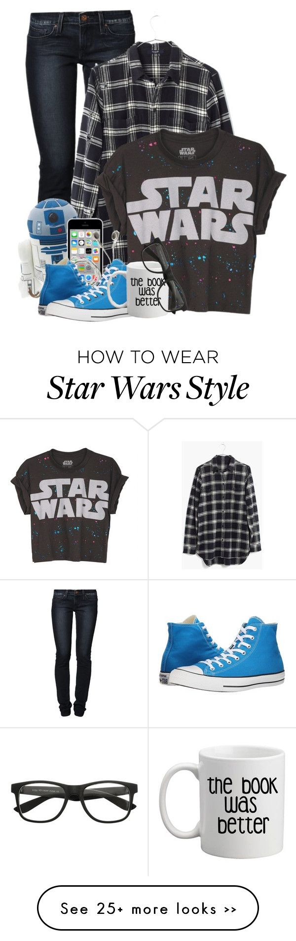 """Dare to be a Dork"" by beautybear64 on Polyvore featuring moda, Levi's, Madewell y Converse"