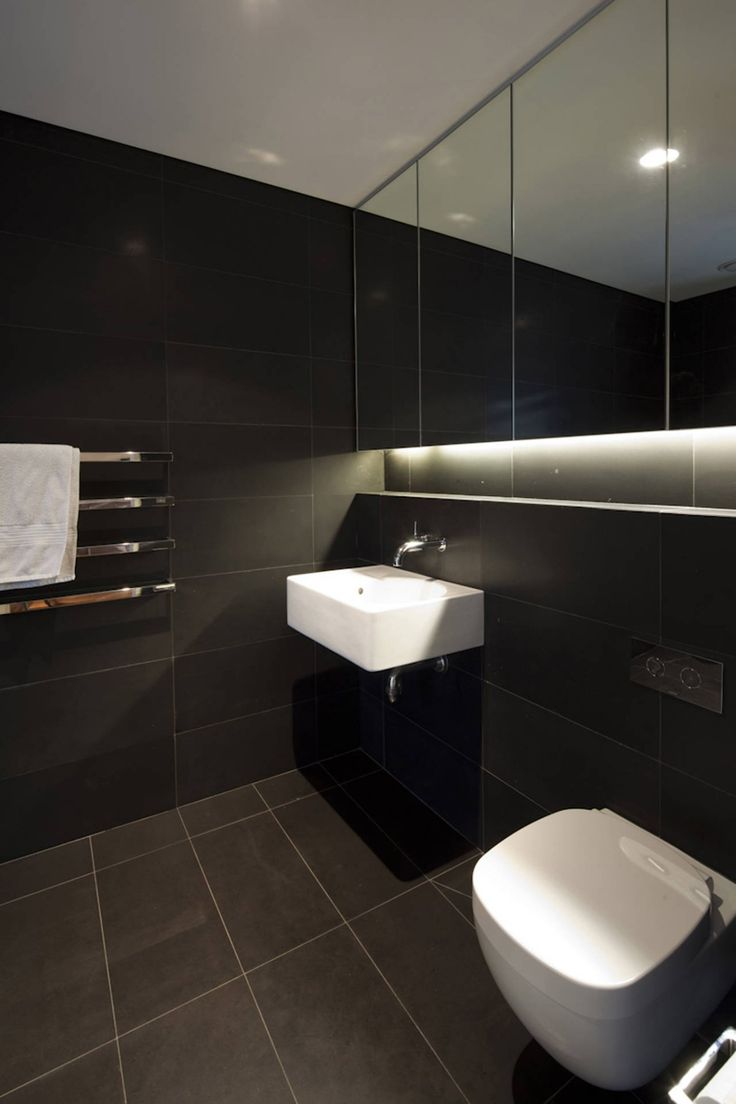 dark tiled bathroom vaucluse house in sydney australia by mpr design group