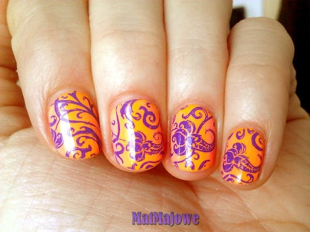 Neon tropical nails http://matmajowe.blogspot.com/2015/05/podsumowanieRedRouge.html