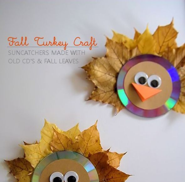 Suncatching Fall Leaf Turkey Craft