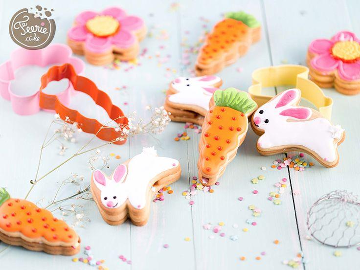 La recette des biscuits piñata de Pâques. Retrouvez notre tutoriel sur le blog Féerie Cake!