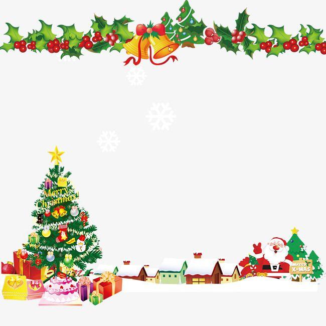 Sinos De Natal árvore De Natal Pano De Fundo Moldura De