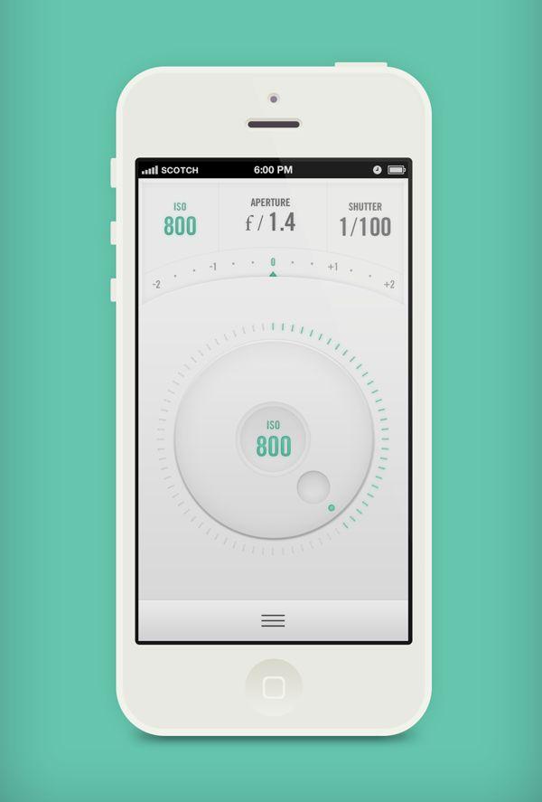 Canon Remote App by Jeremey Fleischer, via Behance