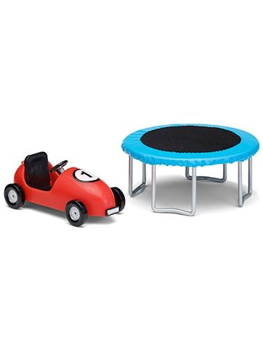Picture of lundby-smaland-doll-house-trampoline-and-pedal-car-set