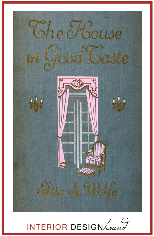 Elsie De Wolfe. I have the first edition and cherish it dearly. First book about interior design.
