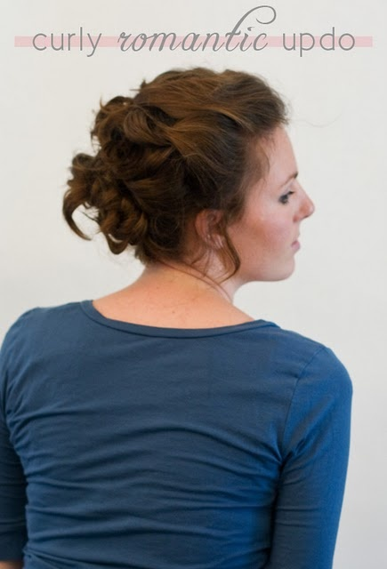 romantic updo tutorial. Even I could do this!