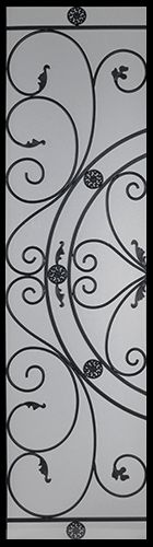 Wrought Iron Door Inserts - Bakerfield 22x80